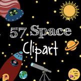 Space Clipart, Frames, Digital Paper & Black & White Images! TpT Commercial Use