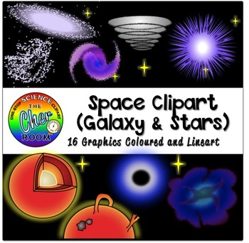 Space Clipart (Galaxy and Stars)