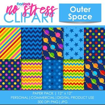 Space Clipart Plus Digital Papers BUNDLE