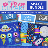 Space Clipart Plus Digital Papers BUNDLE