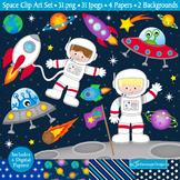 Space Clipart / Space Theme Clip Art / Astronauts (C21)