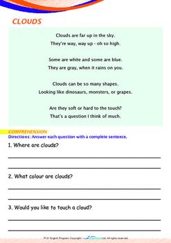Space - Clouds (I) - Grade 1