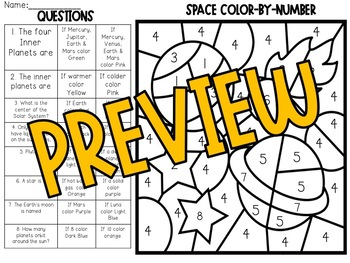 Space Color-By-Number