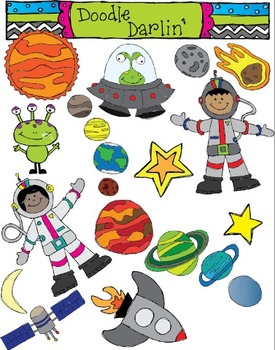 Space Color Only Clipart