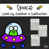 Space Color by Number: Addition & Subtraction