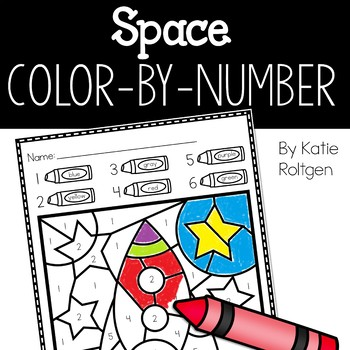 Space Color-by-Number Pages