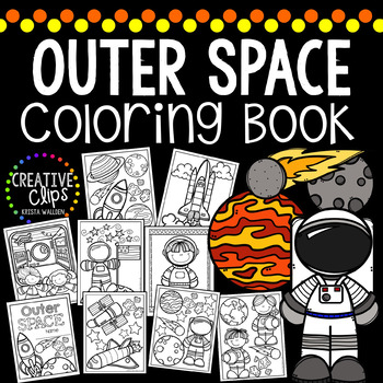 Space Coloring Book {Made by Creative Clips Clipart}