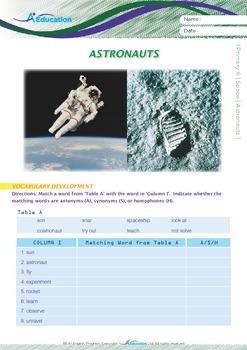 Space - Astronauts (I) - Grade 6
