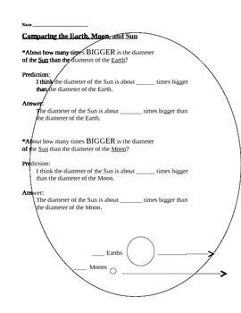 Space - Comparing the Sizes of the Sun, Moon, & Earth