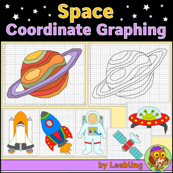Space Coordinate Graphing Mystery Pictures, Ordered Pairs, Space Activity