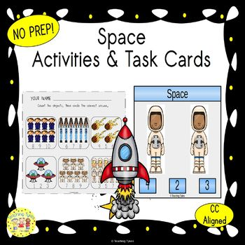 Space Count and Clip Task Cards