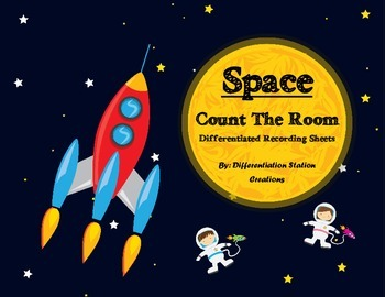 Space: Count The Room, Numerals, Ten Frames, and Tally Marks