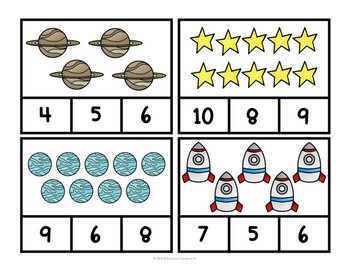 Space Count and Clip Cards