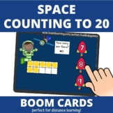 Space Count to 20 BOOM Cards (distance learning)