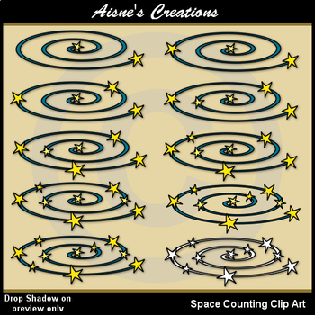 Space Counting Clip Art