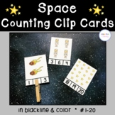 Space Counting Clip Cards
