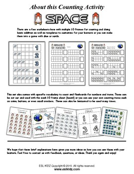 Space Counting / Number Activity Set