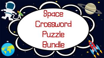 Space Crossword Bundle-Planets, Seasons, Stars, Moon Phase