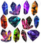 Space Crystals Clipart