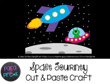 Space Cut and Paste Craft Template - Space Journey