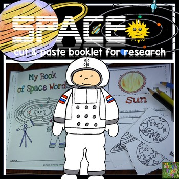 Space Cut and Paste Matching Mini Booklet