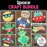 Space Crafts Bundle   Outer Space Theme   Astronaut   Alien   Spaceship   Star