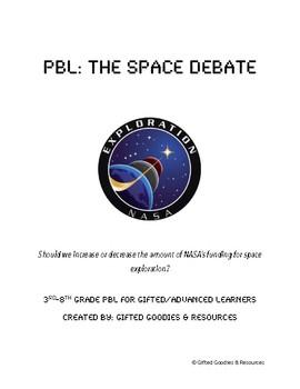 Space Debate PBL: Should we increase or decrease NASA's budget?