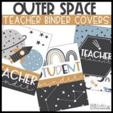 Space Decor | Teacher Planner | Teacher Binder Covers & Spines - Editable!