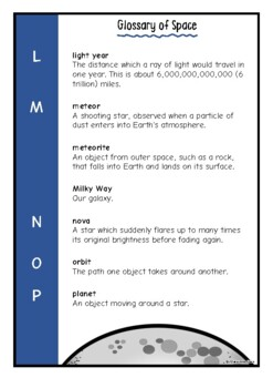 Glossary of Space