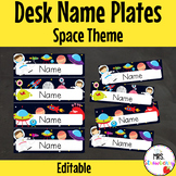 Space Desk Name Plates | Labels **Editable**
