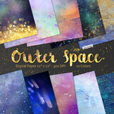 Space Digital Paper, Star Night Sky, Galaxy