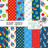 Space Digital Paper for Crafts and Classroom Decor