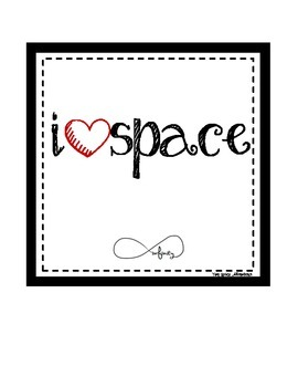 Space Digital Print: I Love Space