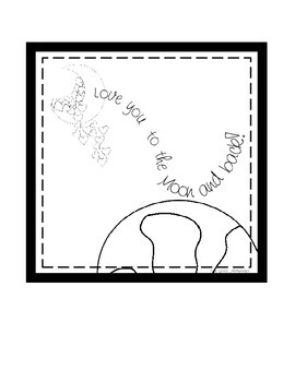 Space Digital Print: Love you to the Moon and Back