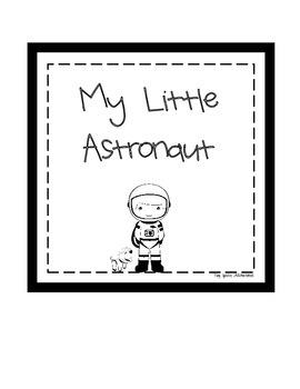 Space Digital Print: My Little Astronaut (boy & puppy)