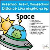 Space Distance Learning/No Prep Packet For Preschool, PreK, K, & Homeschool