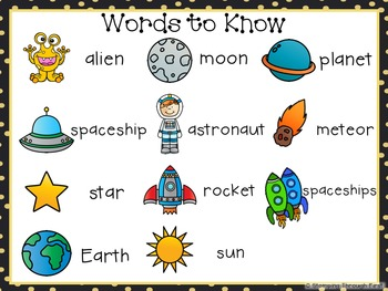 Sight Word Sentence Strips: Space Set