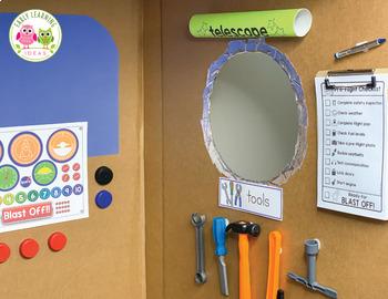 Space Dramatic Play Printables | Pretend Play Set for Preschool PreK & Kinder