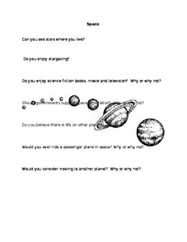 Space ESL Discussion Questions