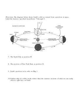 Space Earth and Celestial Objects Homework