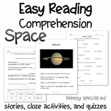 Space - Easy Reading Comprehension for Special Education