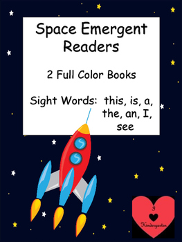 Space Emergent Reader: 2 books featuring sight words