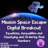 Space Escape Digital Breakout Equation Inequalities Order