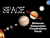 Space Essential Vocabulary Pack