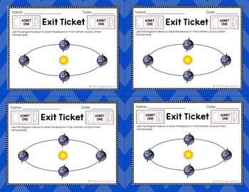 Space Exit Tickets (Exit Slips)