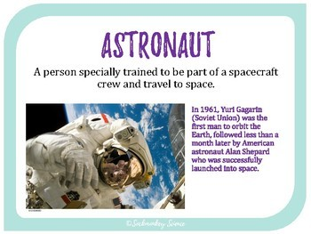 Space Exploration - 6th Grade Science Vocabulary