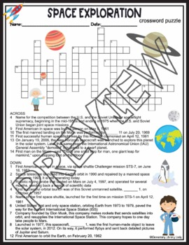 Space Exploration Activities Crossword Puzzle and Word Search Find