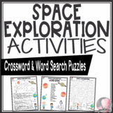 Space Exploration Activities Crossword Puzzle and Word Search