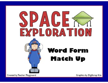 Space Exploration Math Games: Word Form (5 Levels)