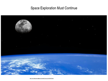 Space Exploration Must Continue